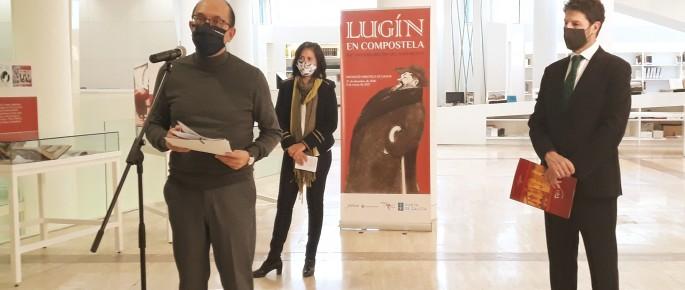 Anxo M. Lorenzo presentando a Exposición sobre Lugín