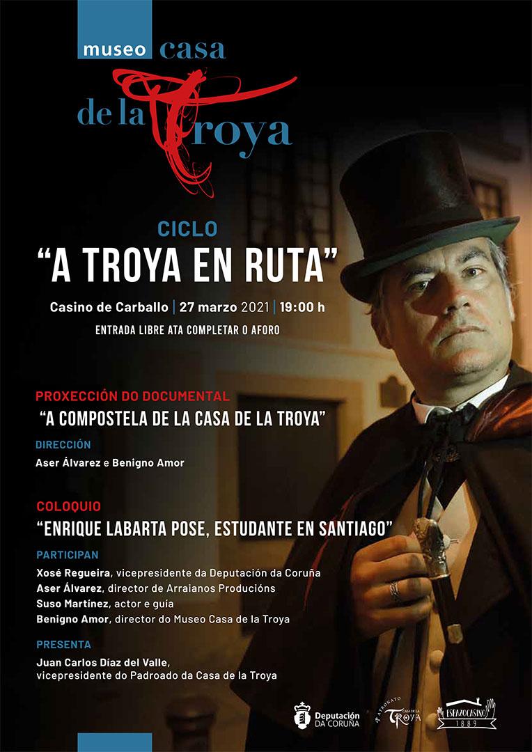 """Cartel de """"A Troya en ruta""""."""